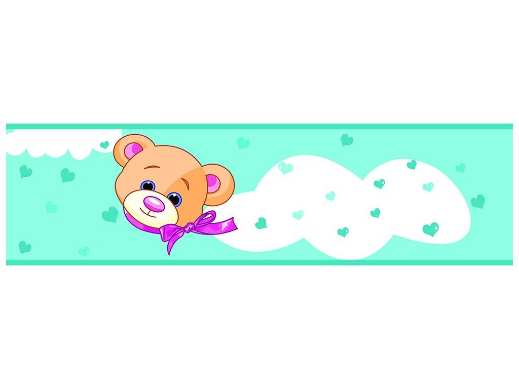 Dětská tapeta Adam 7 -  modrý medvídek