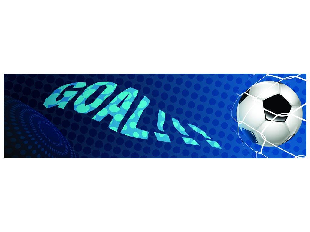 Dětská tapeta Adam 29 - modrý fotbal