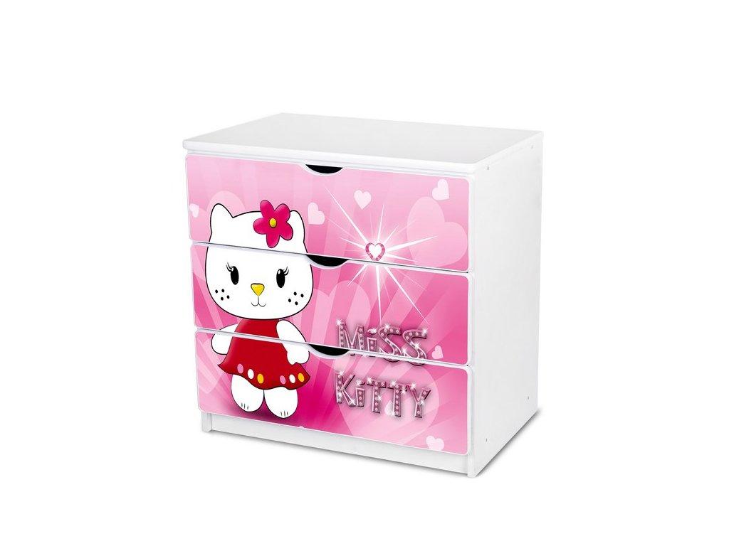 Dětská komoda Adam 14 - miss kitty