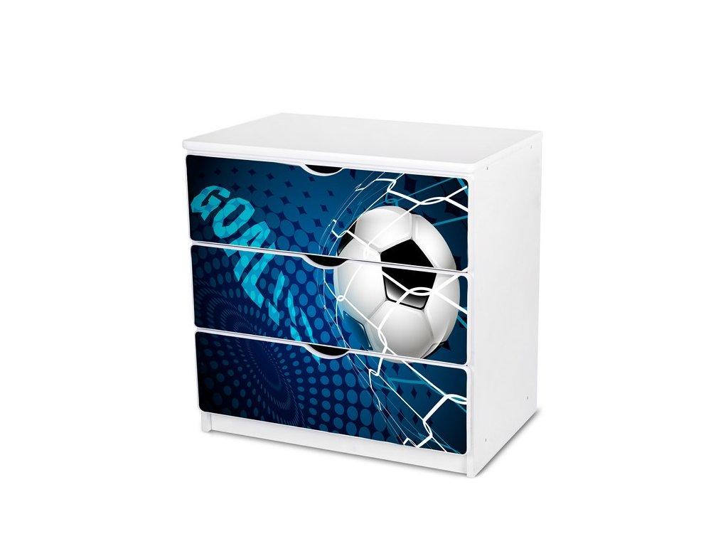 Dětská komoda Adam 29 - modrý fotbal