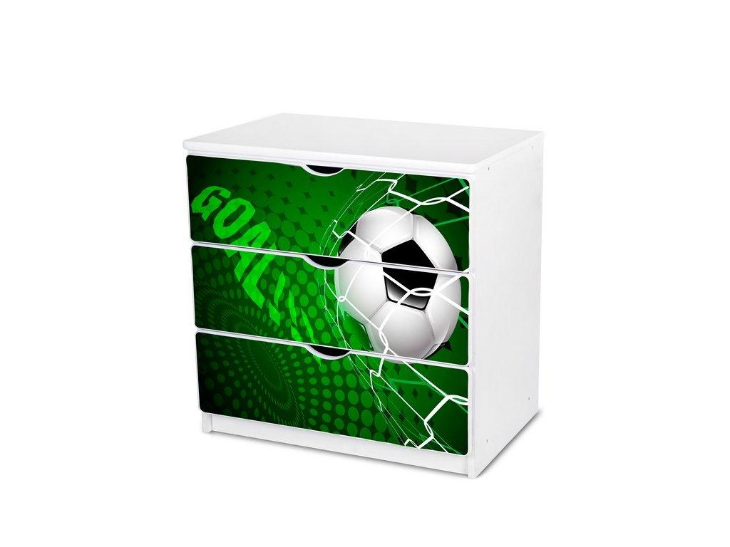 Dětská komoda Adam 30 - zelený fotbal