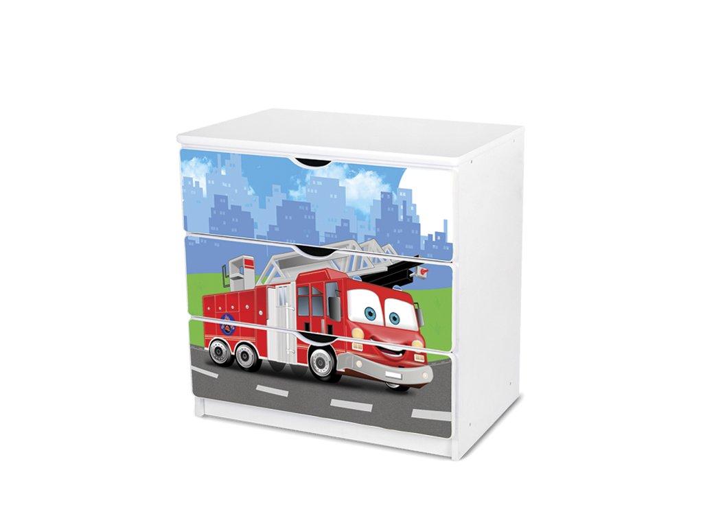Dětská komoda Adam 50 - hasičské auto