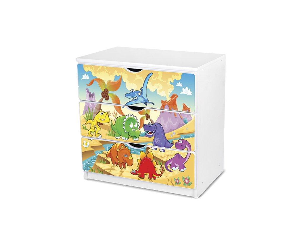 Dětská komoda Adam 51 - dinosauři