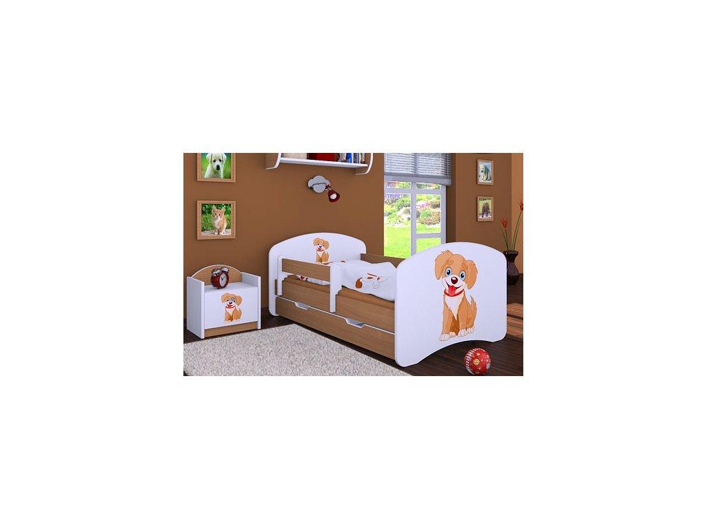 dětská postel s obrázkem pes