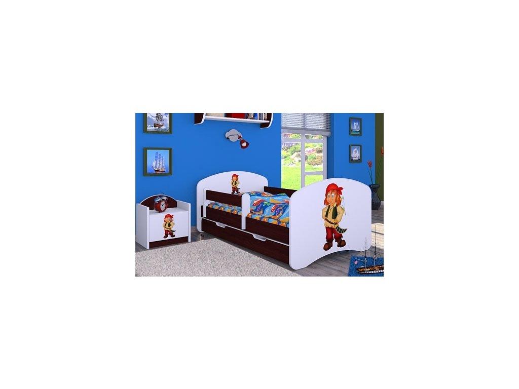 dětská postel s obrázkem pirát