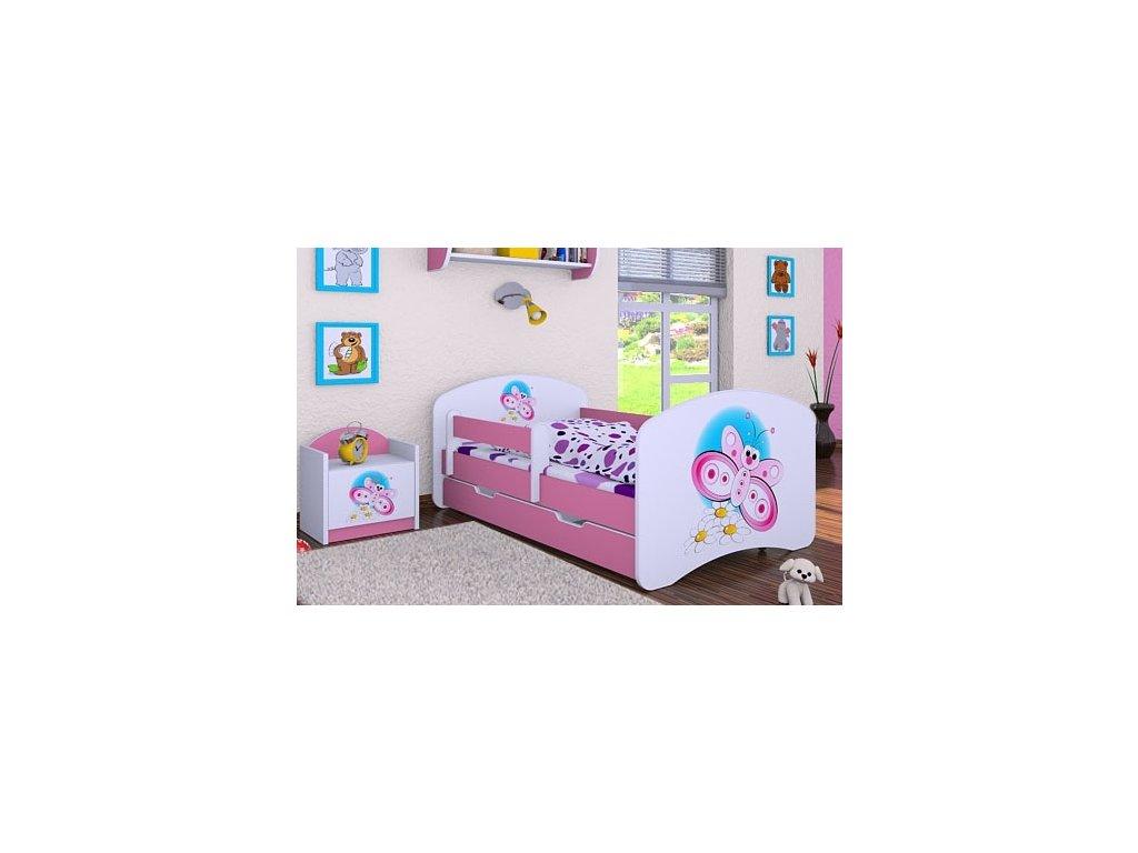 dětská postel s obrázkem motýl