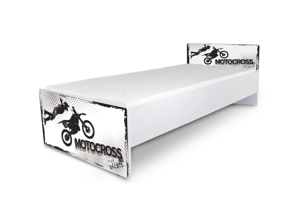 Postel pro mládež Junior 38 - motorka 180x80 cm + matrace