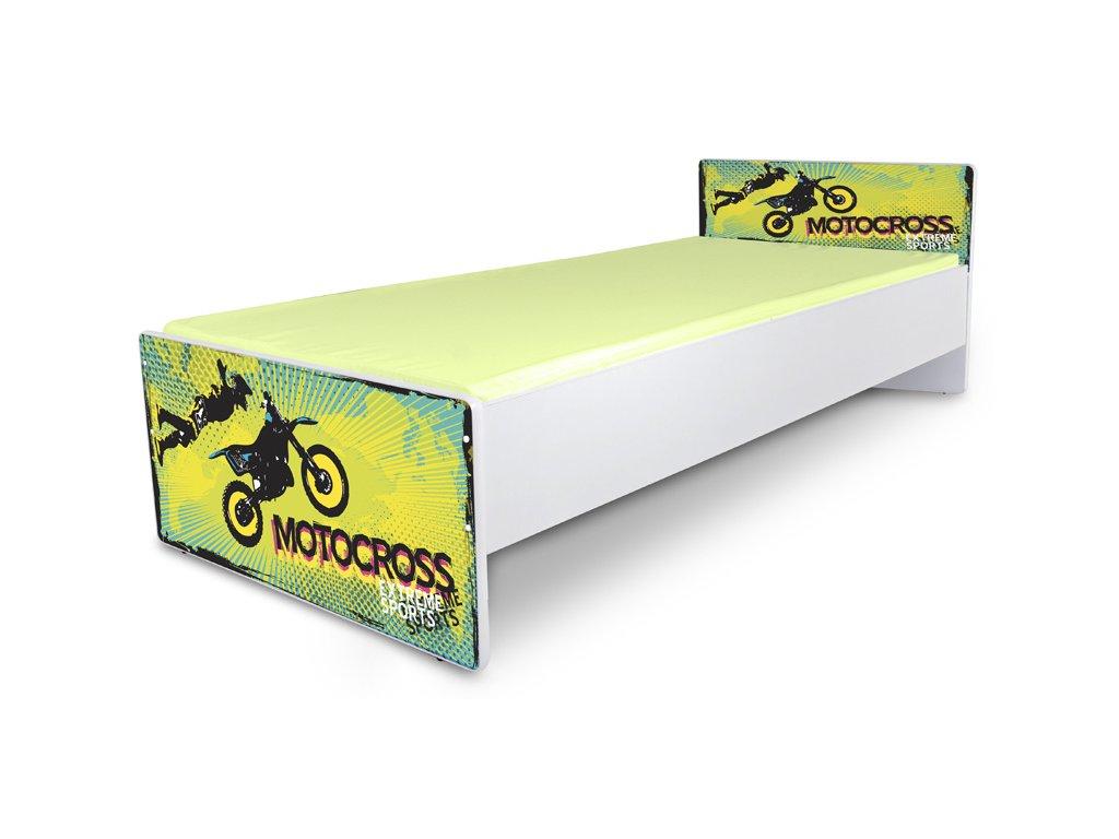 Postel pro mládež Junior 39 - motorka2 180x80 cm + matrace zdarma