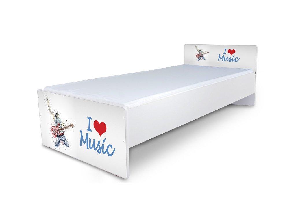 Postel pro mládež Junior 42 - muzika2 180x80 cm + matrace zdarma