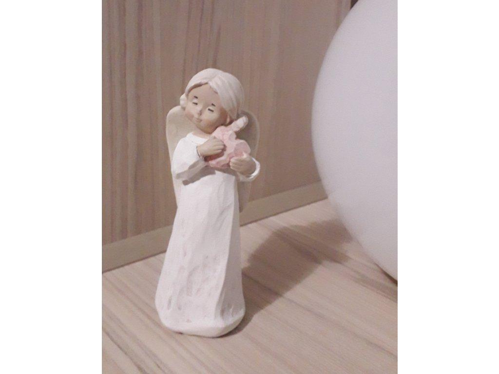 keramický andílek 15 cm
