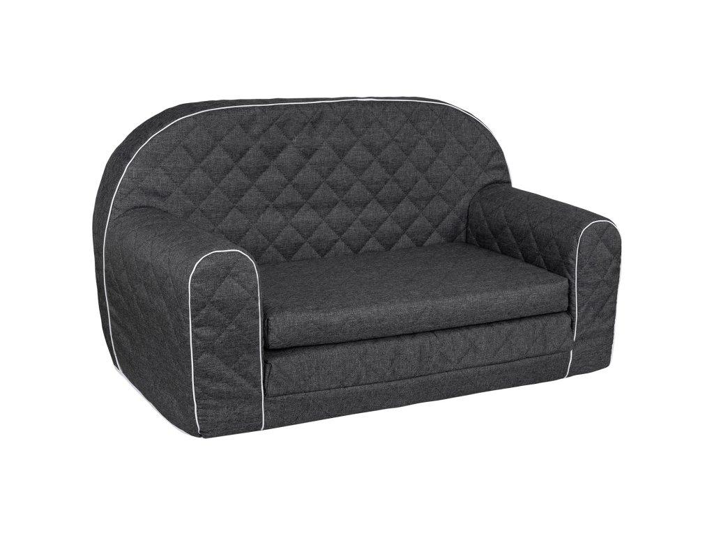 Molitanová sedačka PIKO karo černá