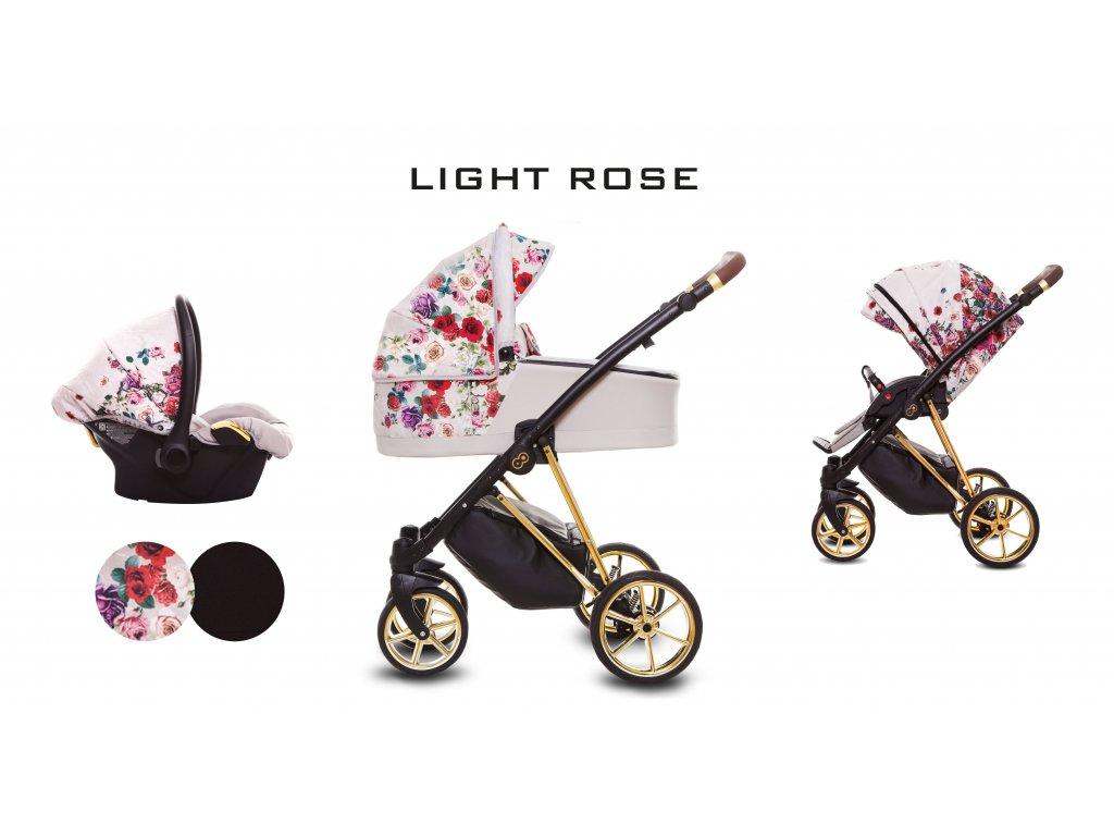 Kočárek Musse Light Rose set
