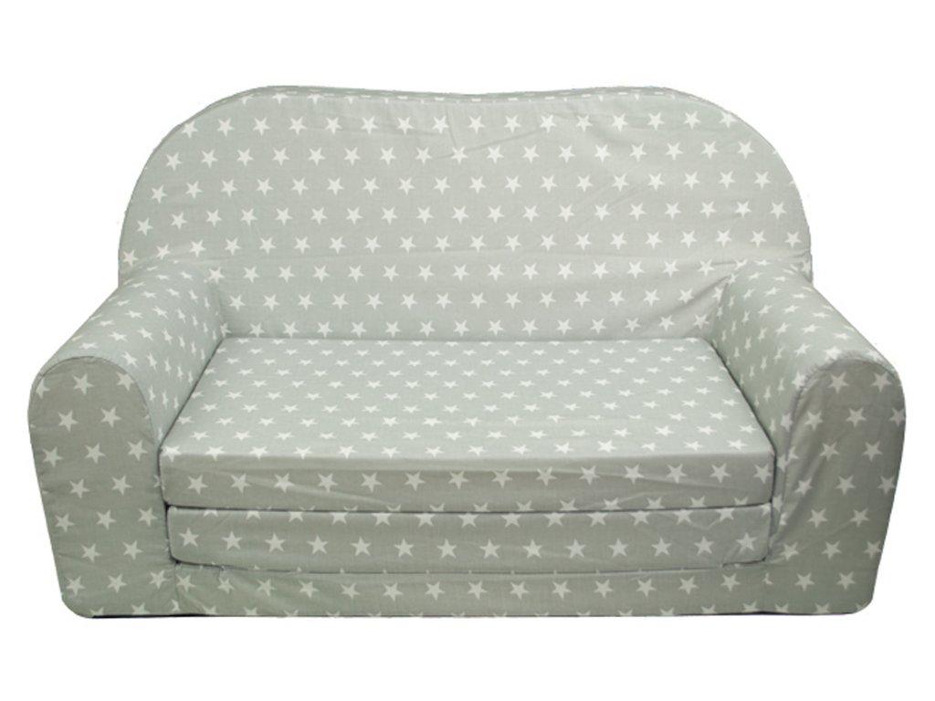 molitanová sedačka šedá bílá hvězdy