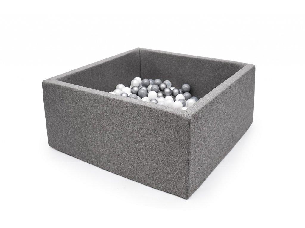 Suchý bazén čtverec tmavě šedý