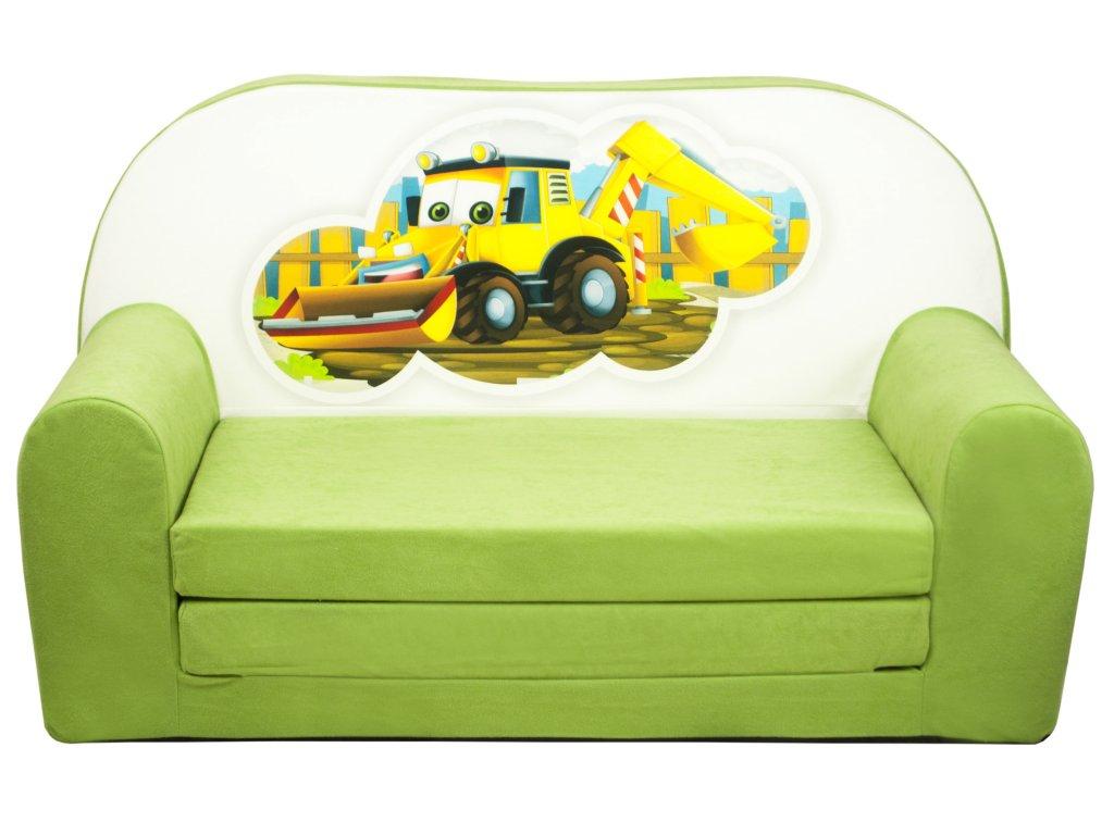 molitanová sedačka zelená bagr