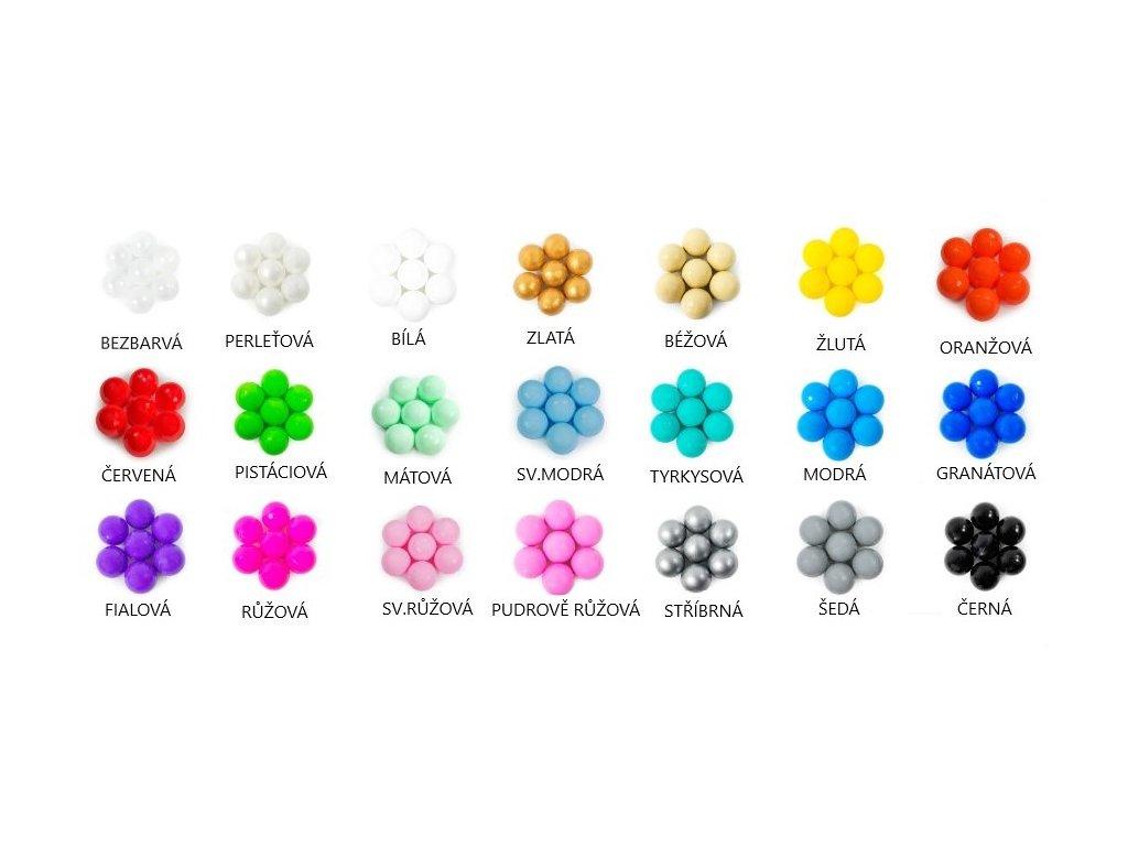 barvy kuliček