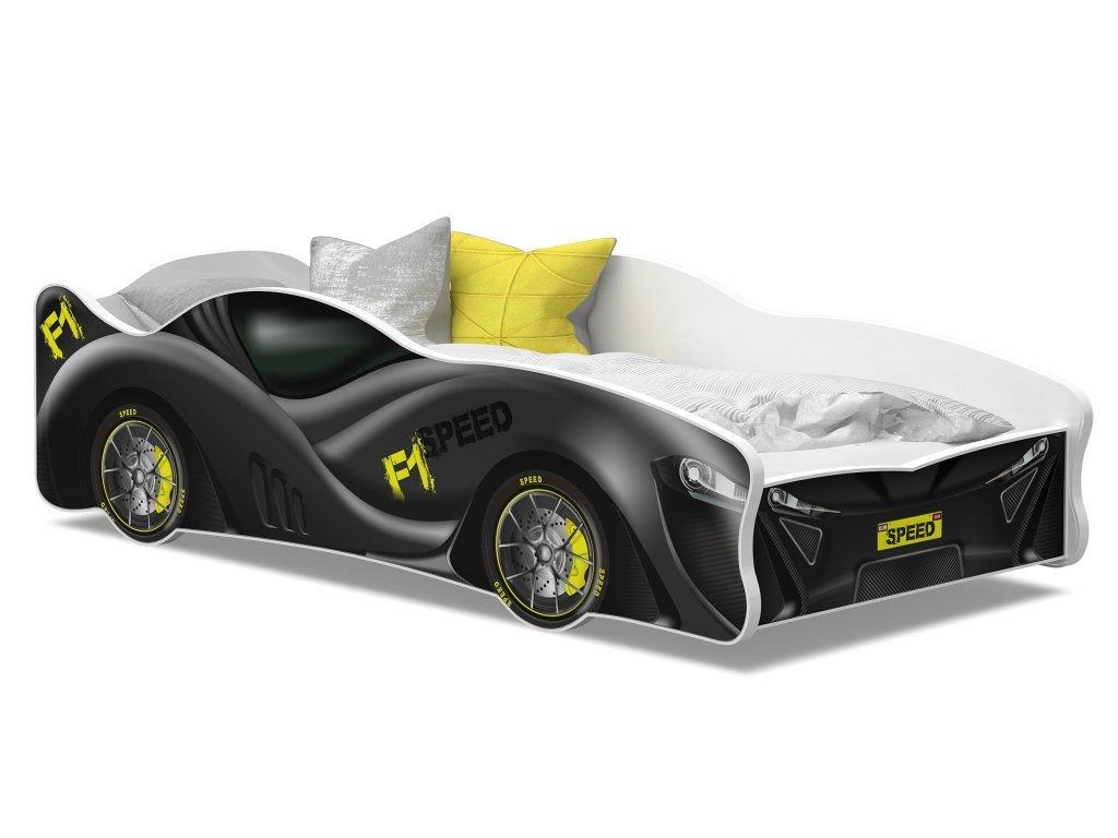 auto postel formule šedá