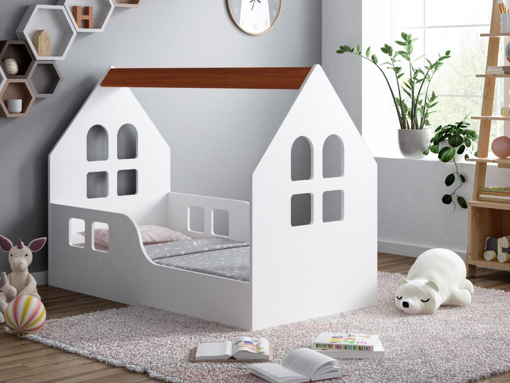 dětská domečková postel s výřezem okna 2 kalvados
