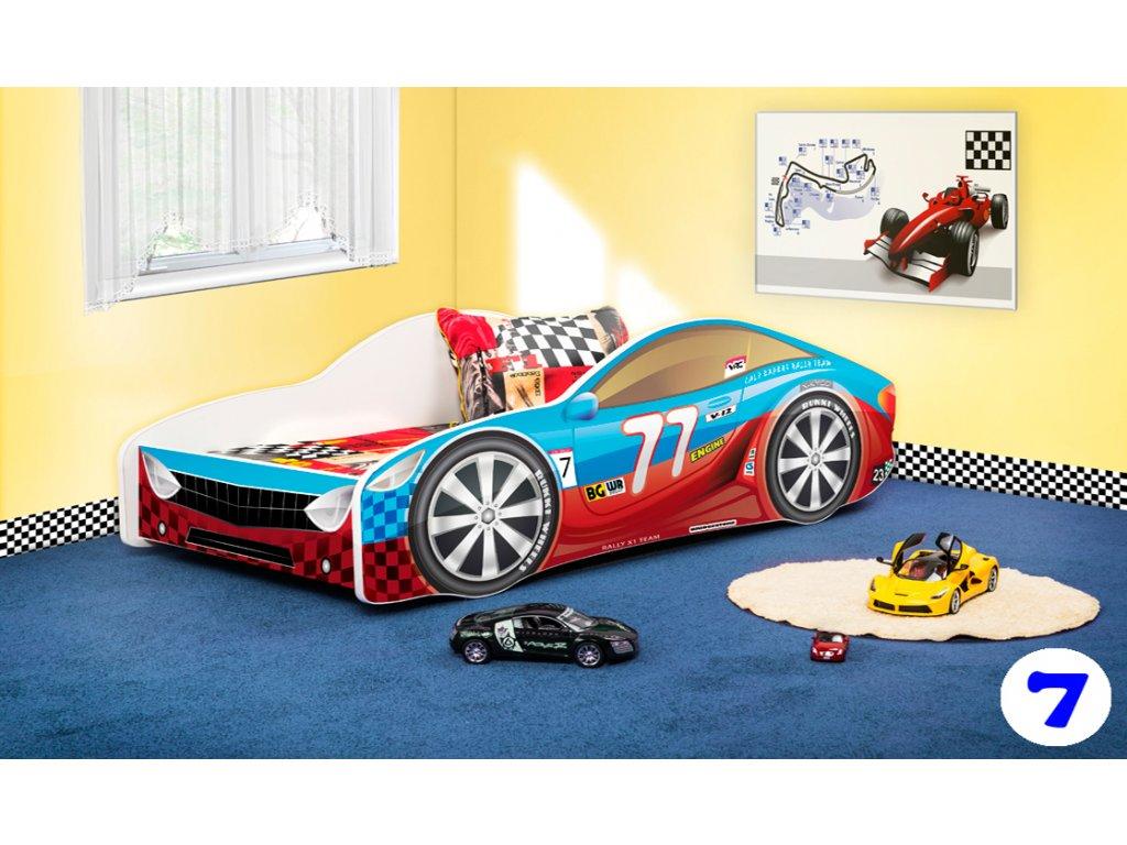 Dětská auto postel sportovní auto 7 + matrace zdarma