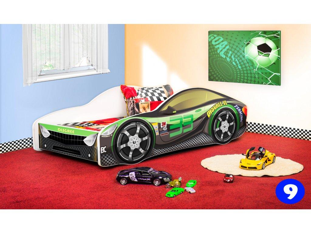 Dětská auto postel sportovní auto černé  9 + matrace zdarma
