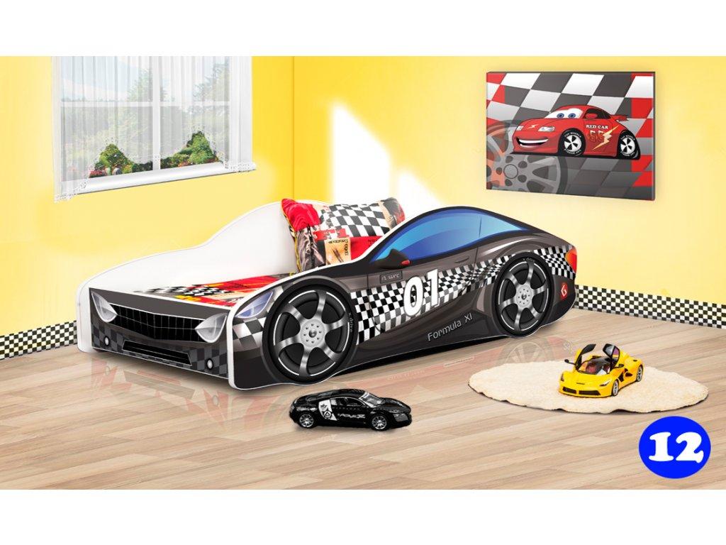 Dětská auto černé 12 + matrace zdarma