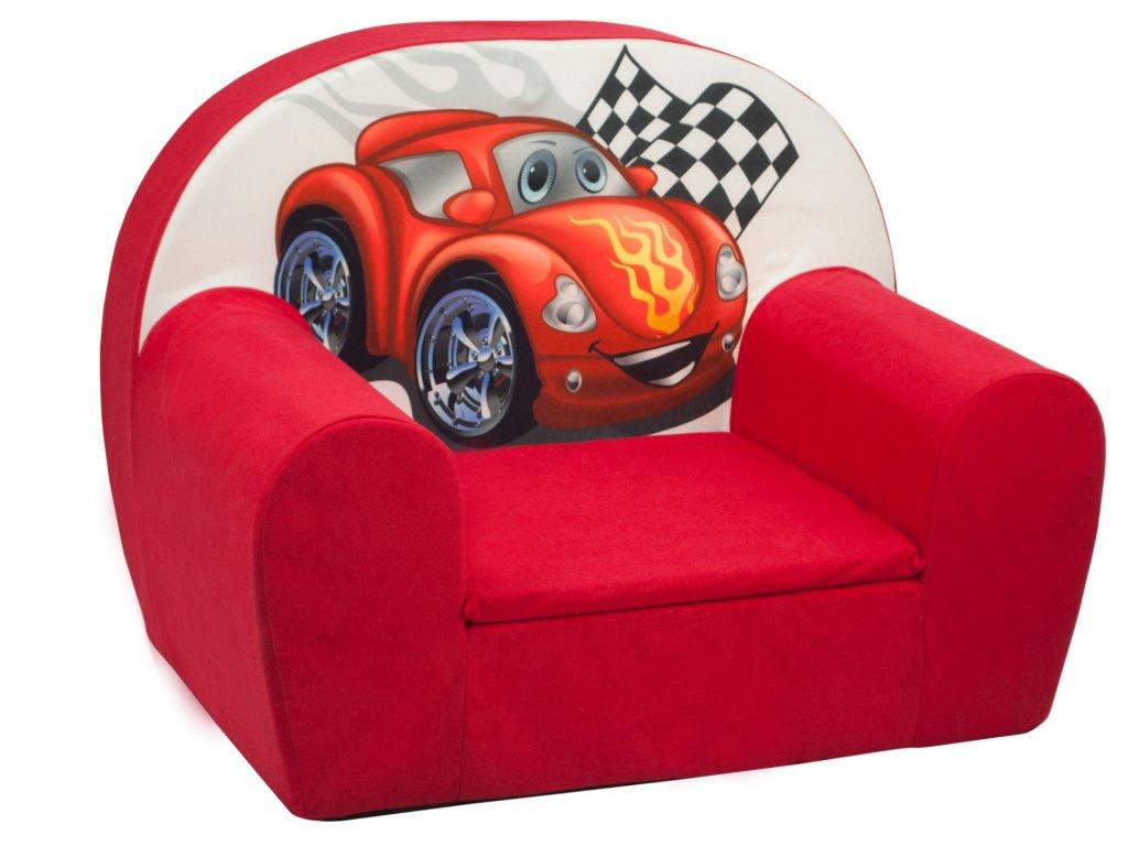 molitanové dětské křesílko červené auto ACZ