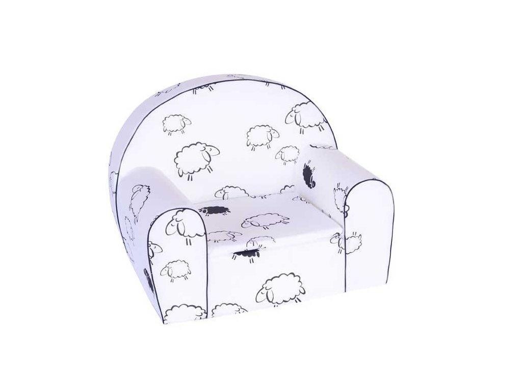 molitanové dětské křesílko ovečky
