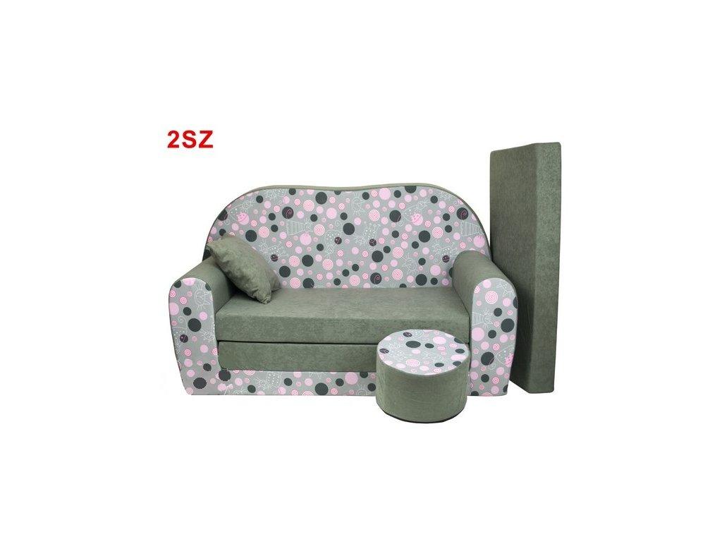 molitanová sedačka kolečka šedá