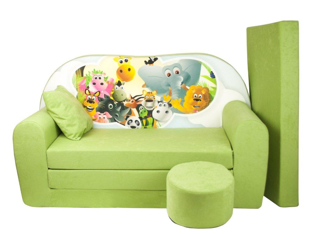 molitanová sedačka s bobkem zelená madagaskar