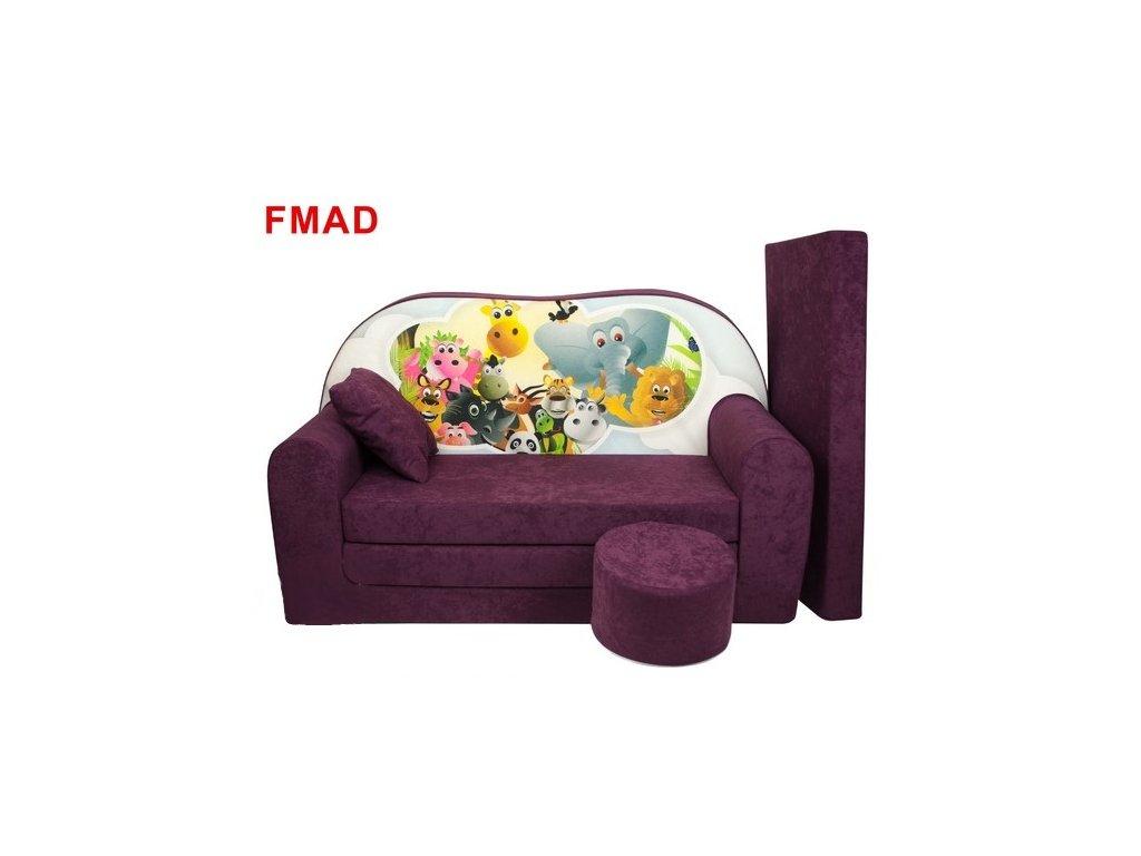 molitanová sedačka s bobkem fialová madagaskar
