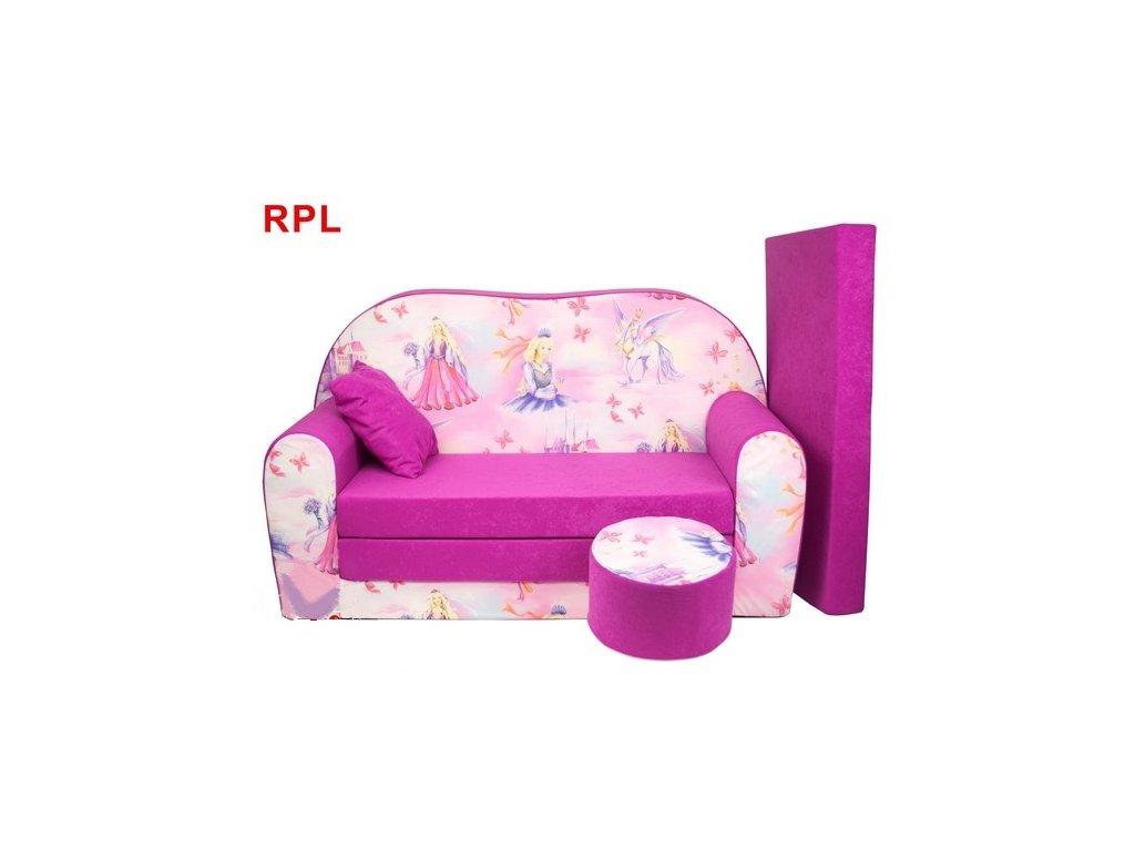 molitanová sedačka s bobkem růžová princezny