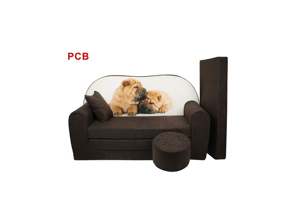 molitanová sedačka s bobkem pes hnědá