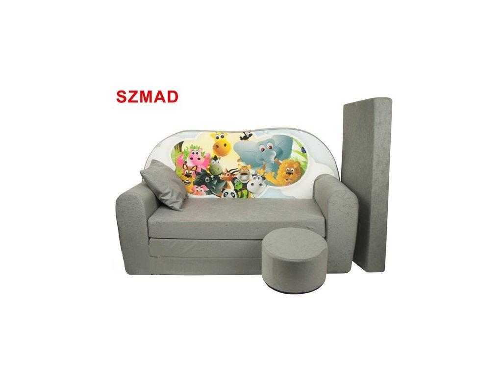 molitanová sedačka s bobkem šedá madagaskar