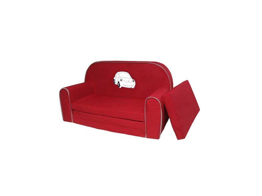 Dětská molitanová sedačka - bordo auto