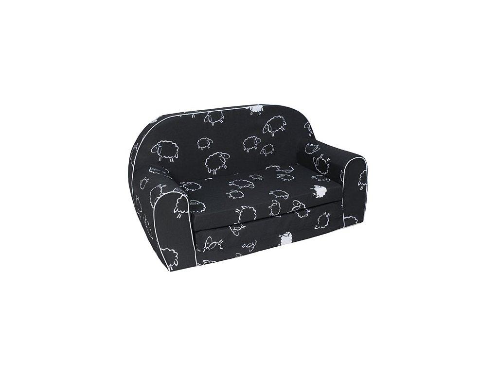 moliatnová sedačka pro děti ovečky černé