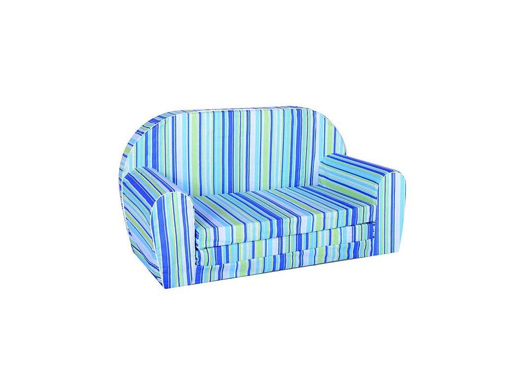 molitanová sedačka pruhy modrá