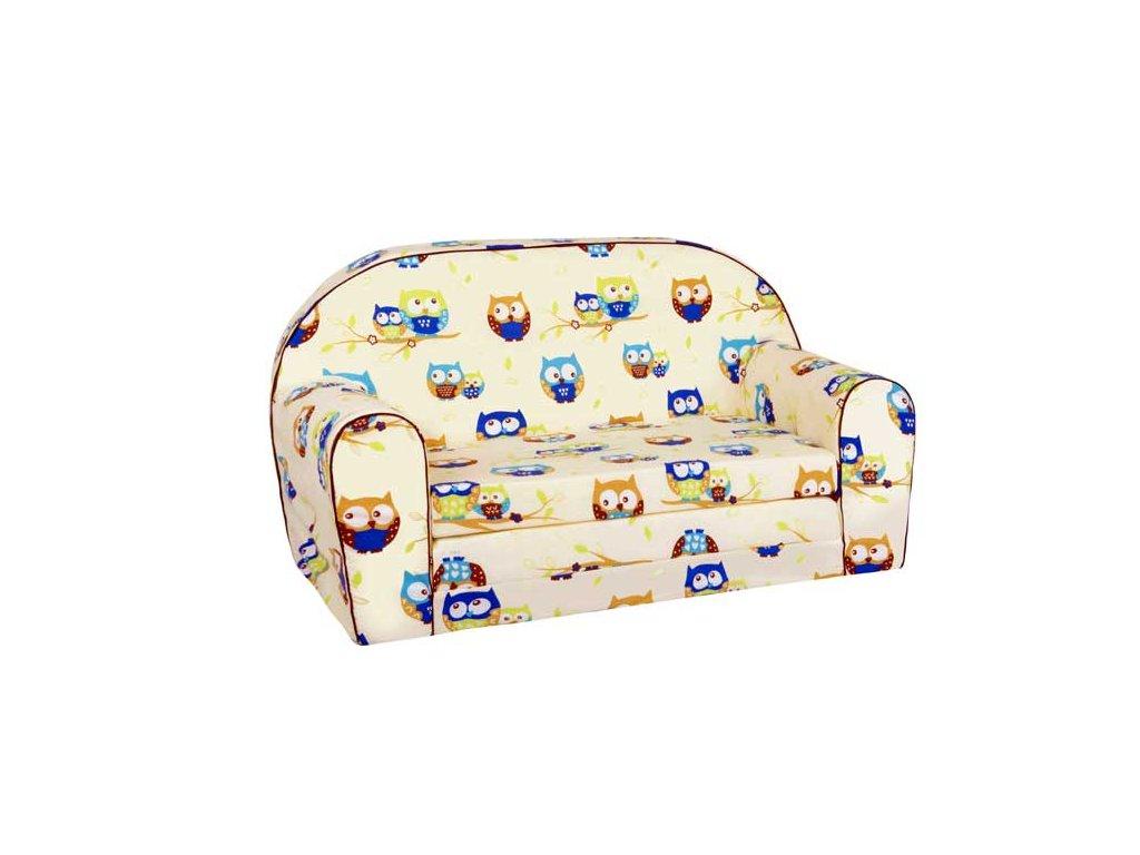 molitanová dětská sedačka sovy