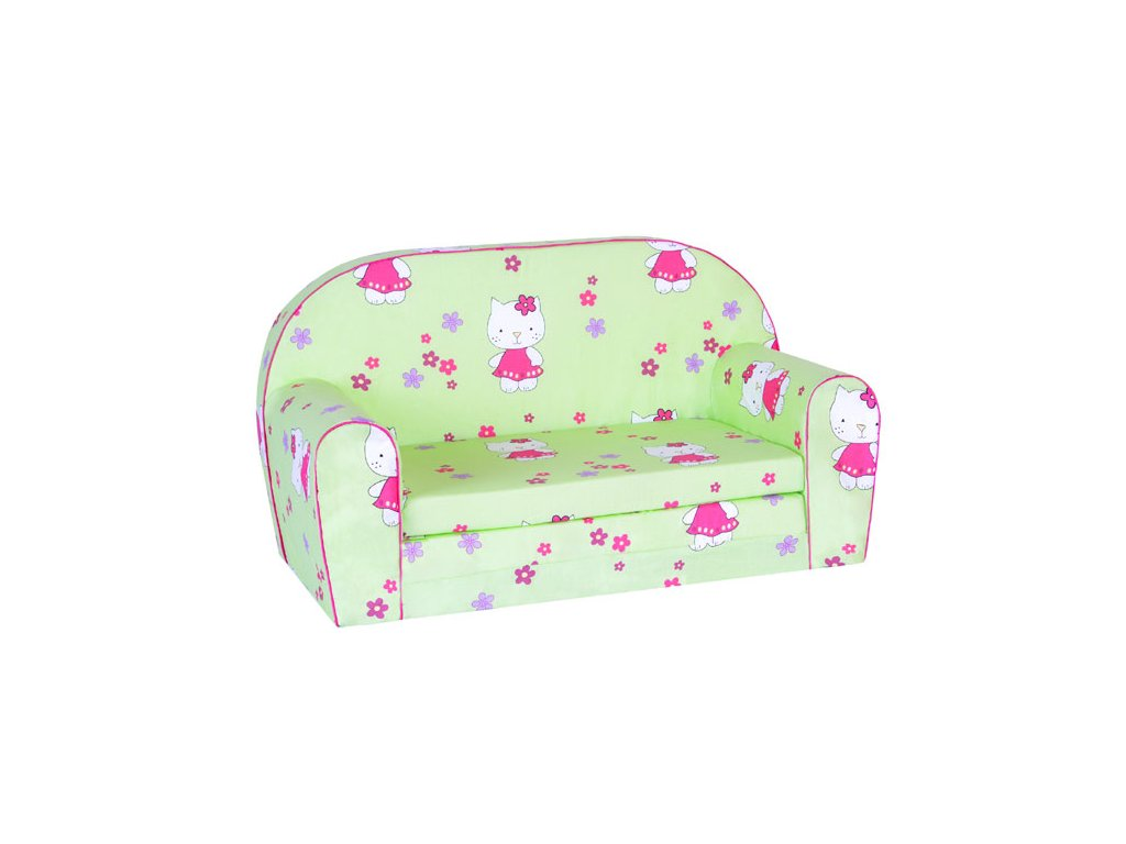 molitanová sedačka hello kitty zelená