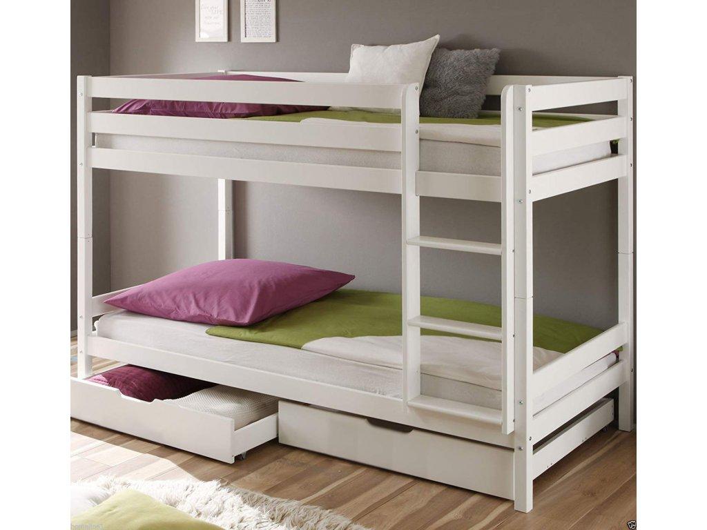 patrová postel palanda bílá