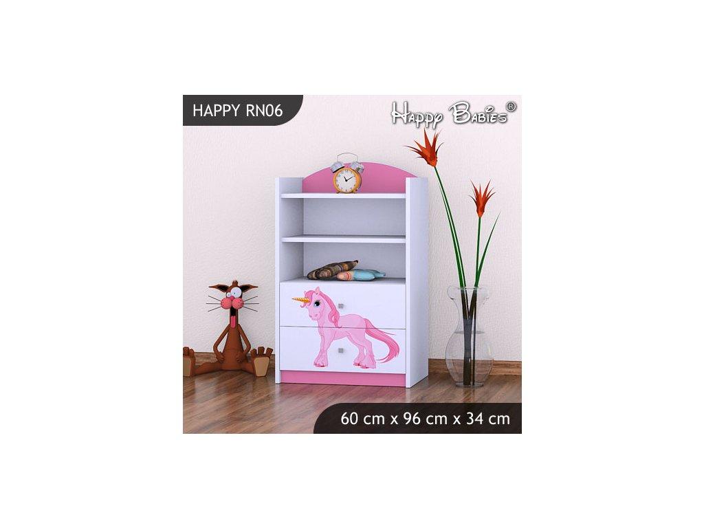 Dětský regál nízký růžový RN06