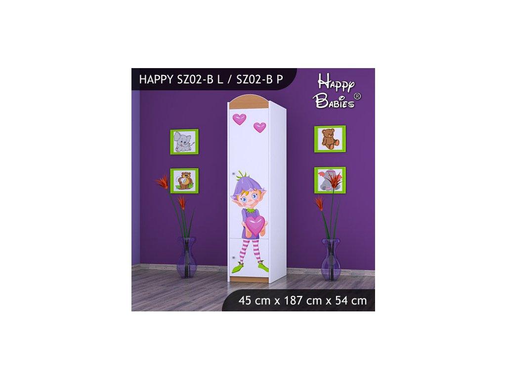 Dětská skříň s obrázkem Kevin SZ02-B