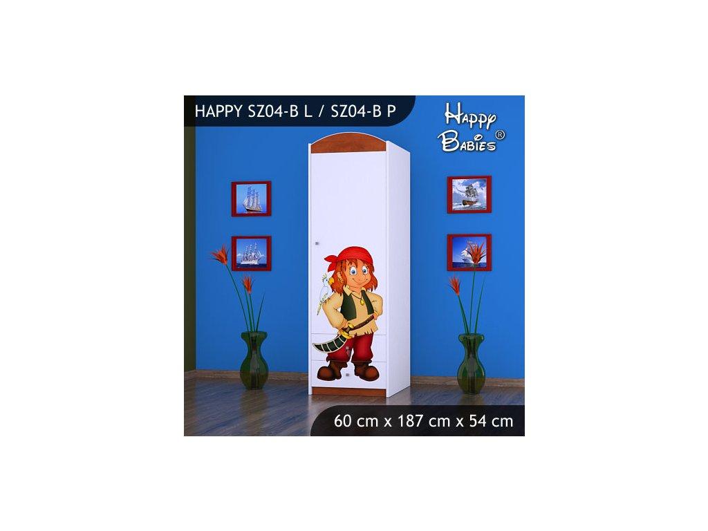 Dětská skříň s obrázkem Kevin SZ04-B