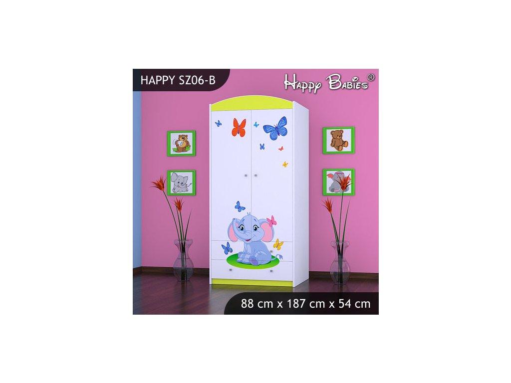 Dětská skříň s obrázkem Kevin SZ06-B