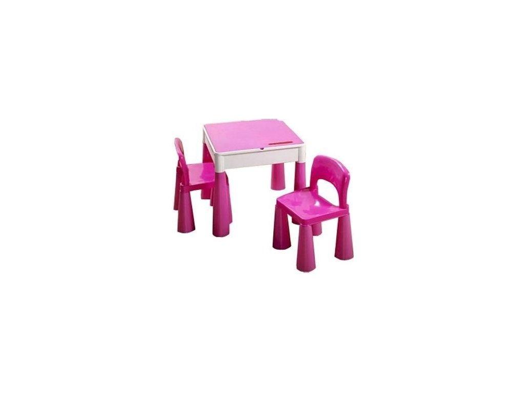 Tega Dětský set Mamut 2 židle a stůl RŮŽOVÝ