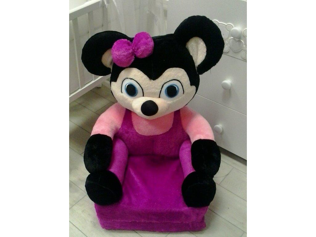 Dětské plyšové rozkládací křesílko - Minnie