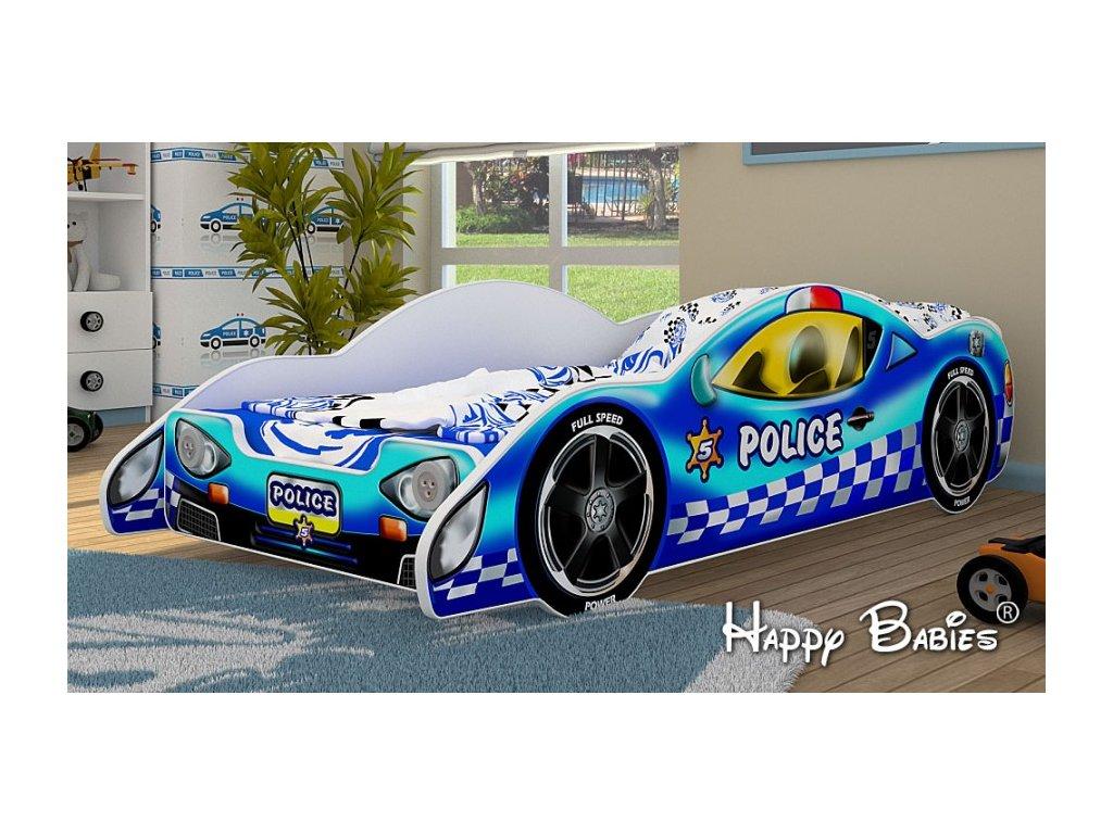 Dětská postel auto Zenith - policie