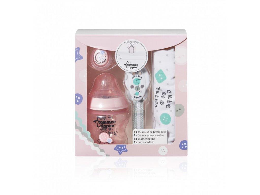 novorozenecká sada tommee tippee lahvička brindák klip na dudlík