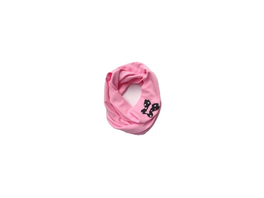 Pinkie Šálka Light Pink/Black Butterfly