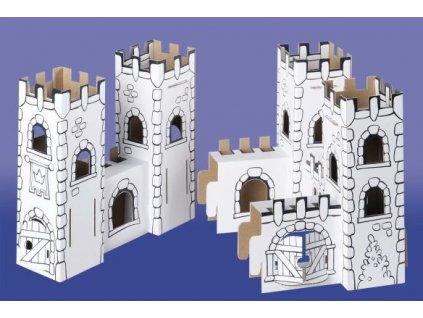 kartonova stavebnice hrad