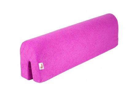Ochranný mantinel zábrany postele - růžový